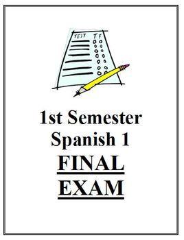 1st Semester Spanish 1 Final Exam | SPANISH Learning