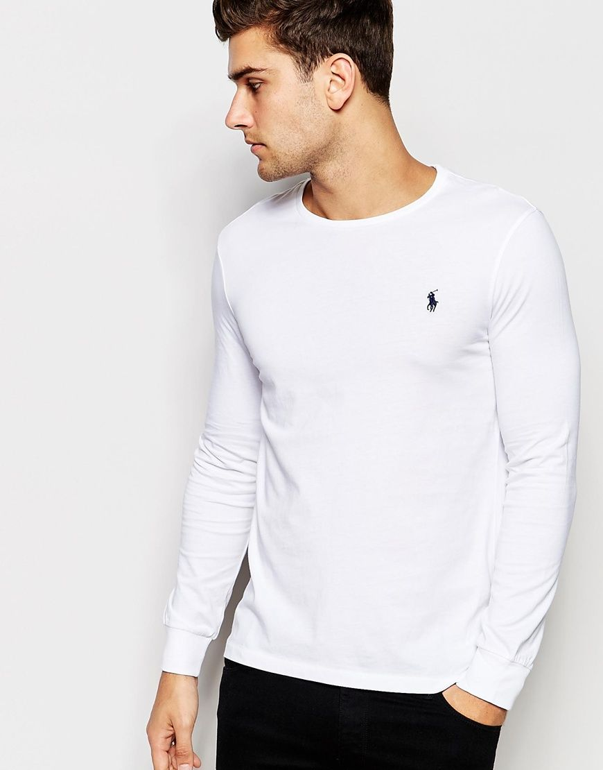 f55d585ae7208 Polo Ralph Lauren T-Shirt with Long Sleeves In White