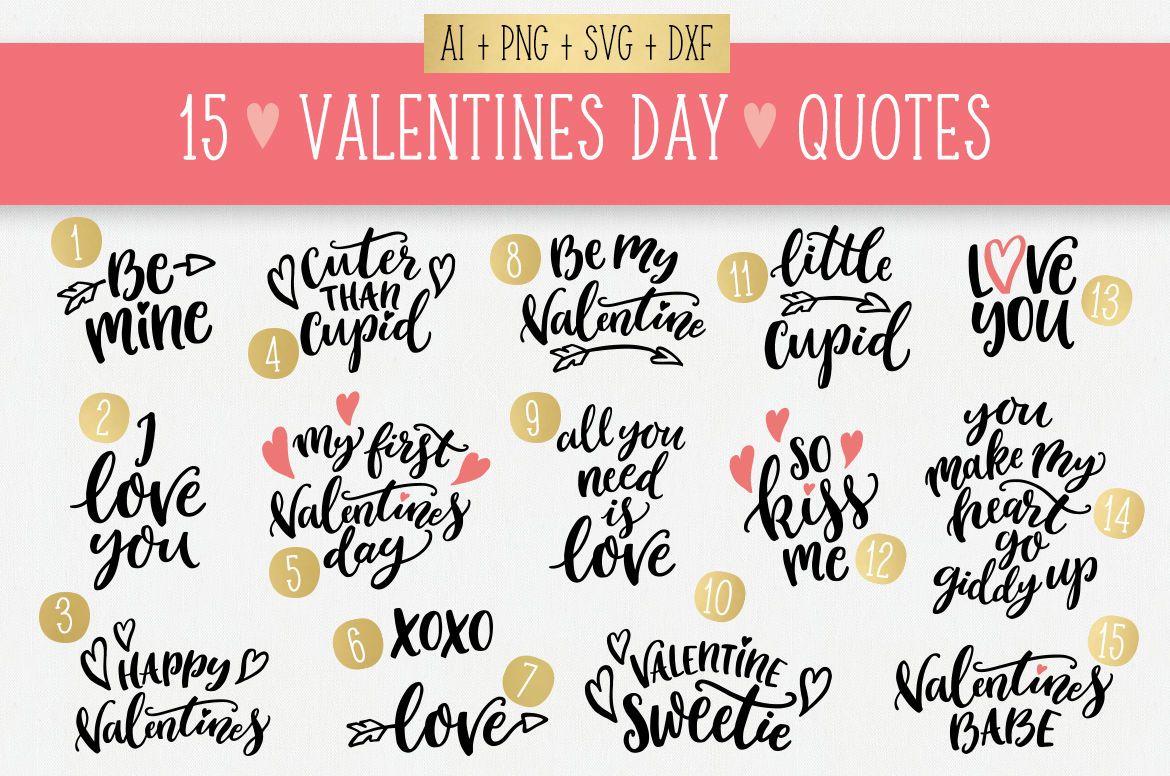 15 Valentines Day Quotes Svg Bundle Lettering Hearts Arrows By Skyladesign Thehungryjpeg Com Quotes In 2020 Valentine S Day Quotes Svg Quotes Valentine Quotes
