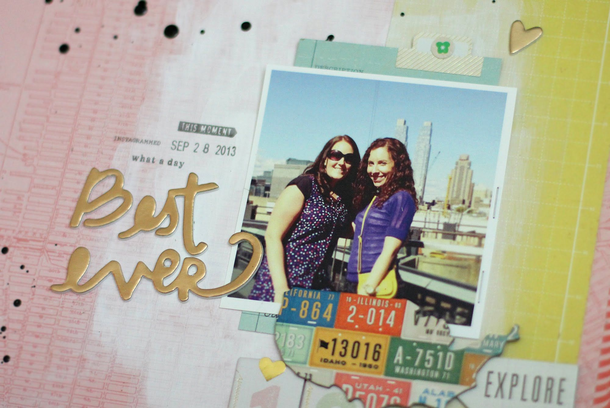 Scrapbooking Process: Travel Layout | Kalyn Kepner