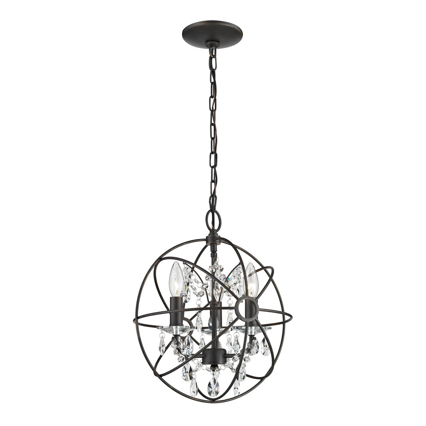 Sterling Industries 124 003 Restoration 3 Light globe chandelier