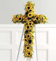 Gota leave this body someday: this flower arrangement would be adequate.