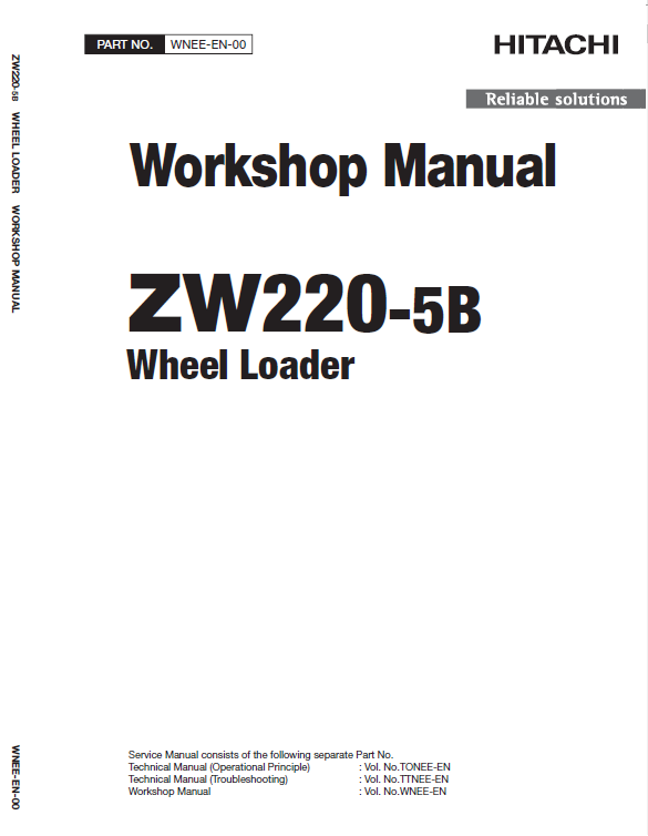 Hitachi Zw220 5a Zw220 5b Wheel Loader Service Manual Hitachi Hydraulic Systems Manual