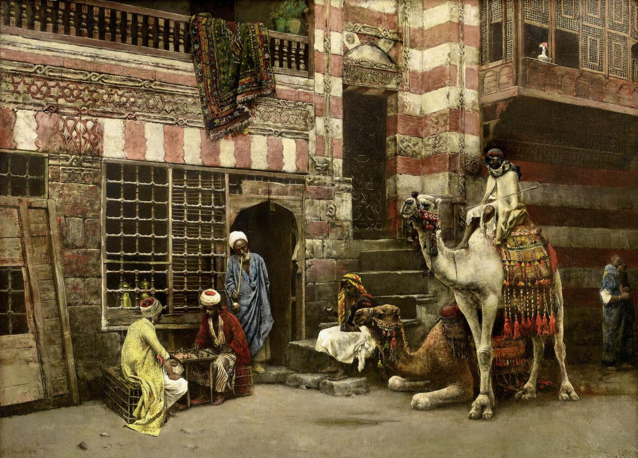 A Game of Chess, 1879, Edwin Lord Weeks