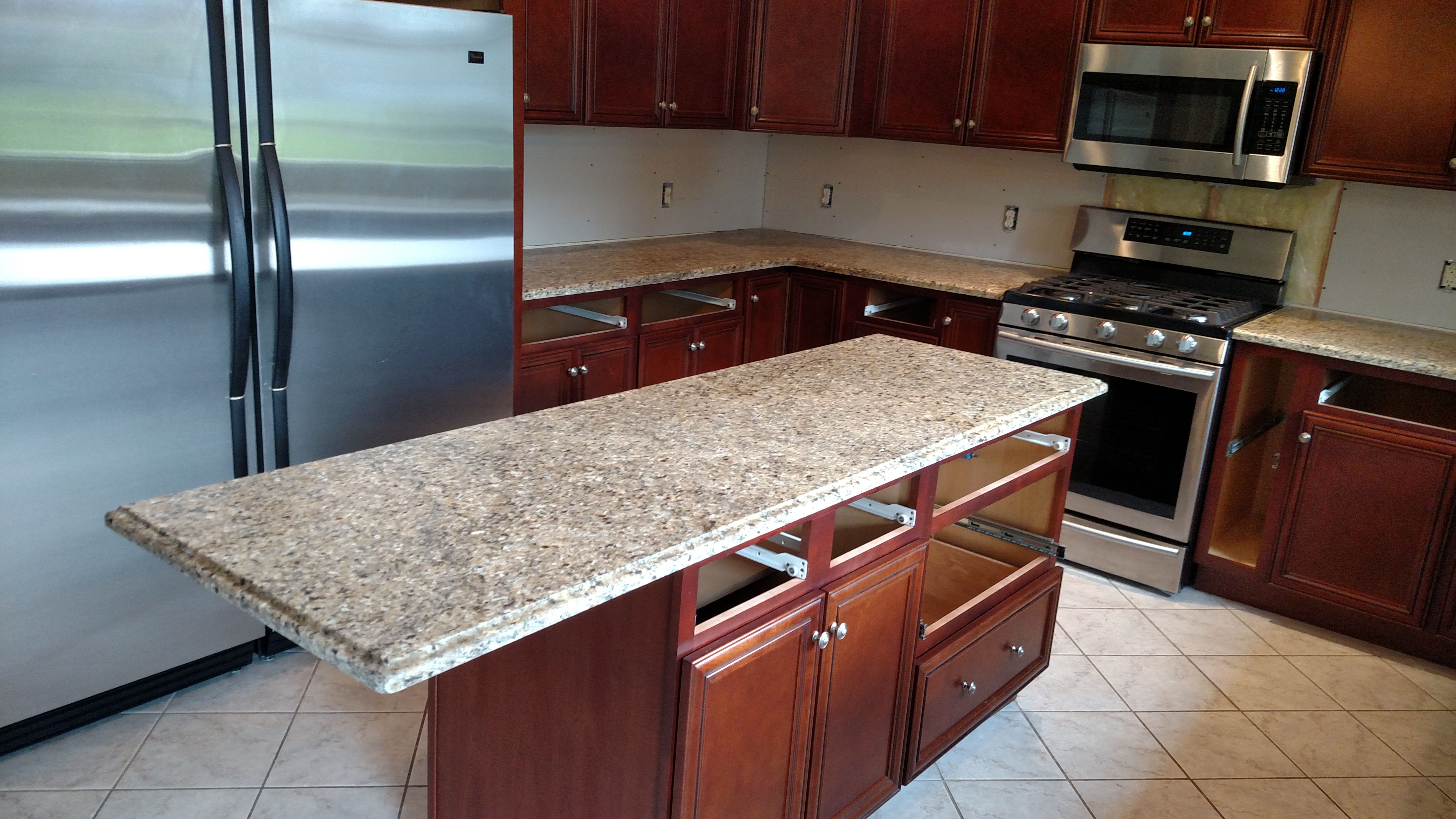 - New Venetian Gold Granite That Has A Leathered Finish Gives The