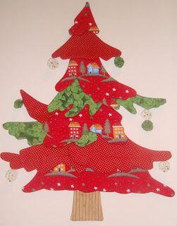 los angeles de patchwork patrones del arbol navidad