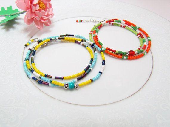 Christmas gifts handmade bracelet DIY Seed bead by ArtbyYJMai