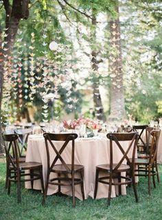 Backyard Wedding with Cranes
