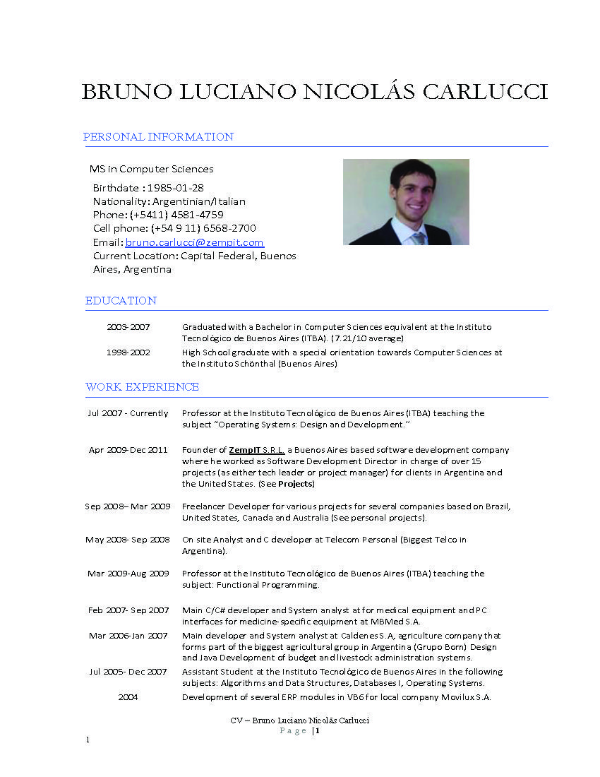 computer science resume templates httpwwwresumecareerinfocomputer - Resume Computer Science Sample
