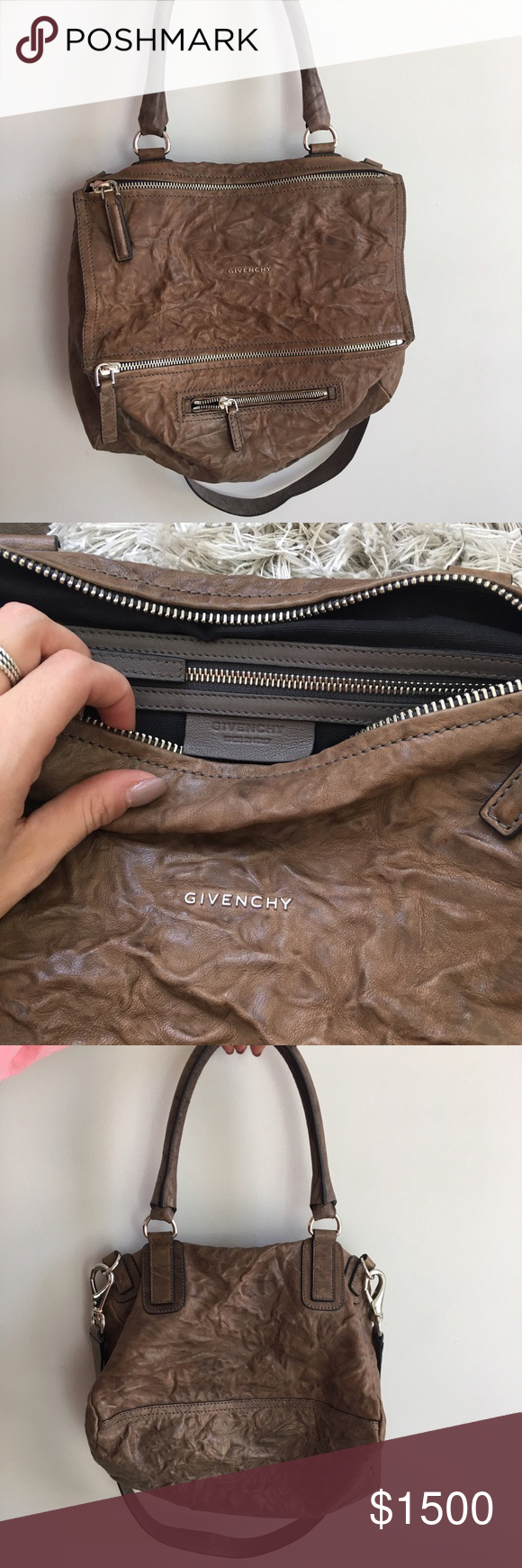 f728fba9bc Givenchy Medium Pepe Pandora Leather Shoulder Bag Medium wrinkled leather Givenchy  Pandora bag. This bag is sold out almost everywhere and has barely any ...