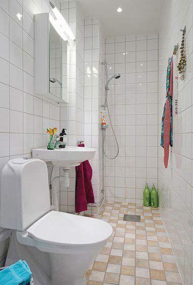 แบบห องน ำสวย ๆ ในพ นท แคบ และล ก Apartment Display Small Apartment Design Design Solutions