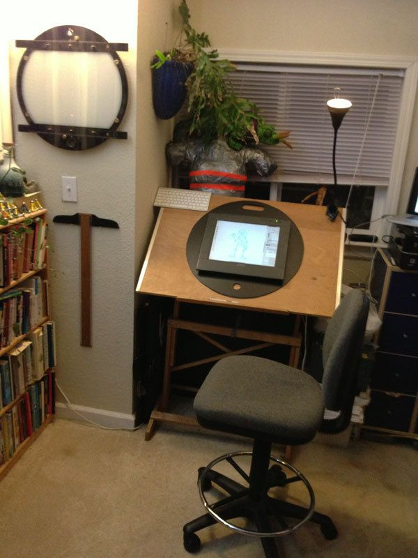 cintiq animation desk by on deviantart studio space art studio. Black Bedroom Furniture Sets. Home Design Ideas
