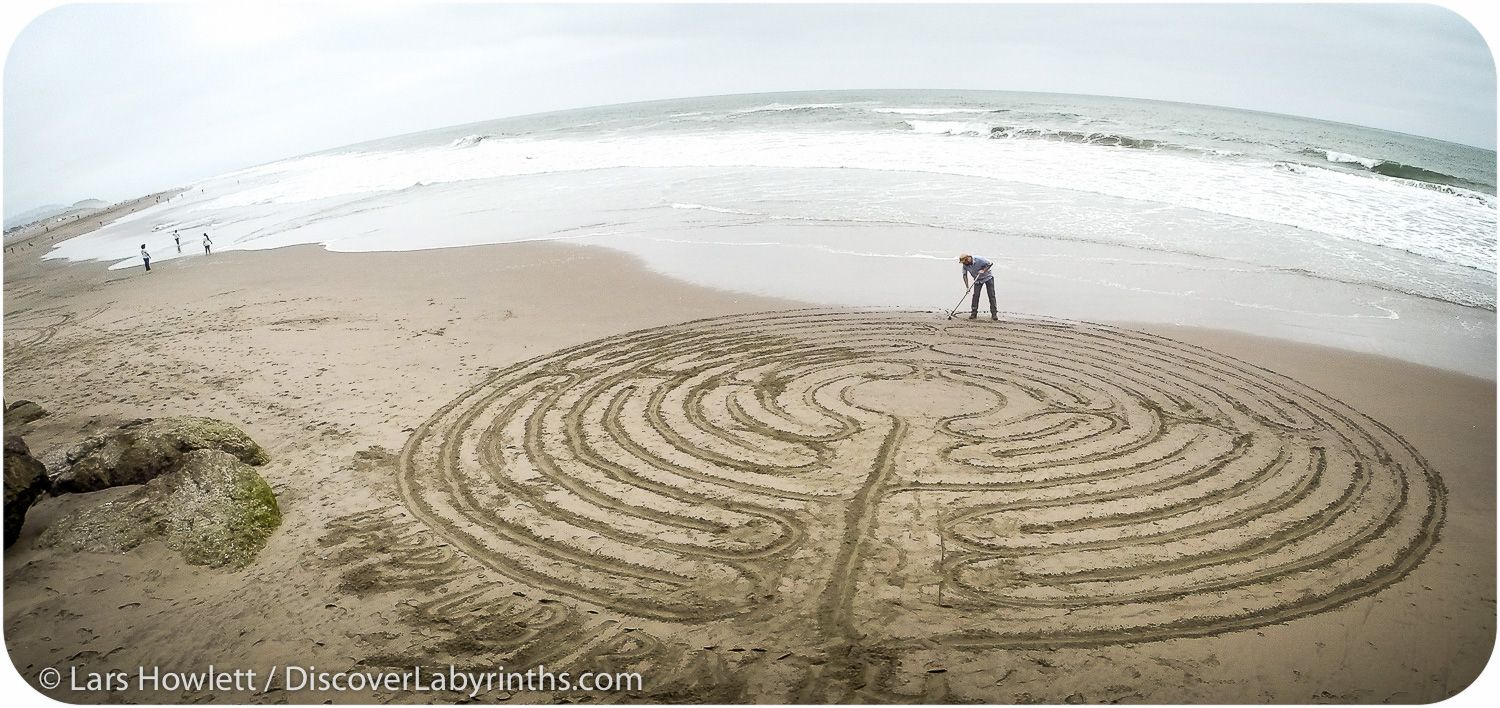 Ocean Beach Labyrinth Labyrinths Pinterest Circuit Classical From A 5circuit Chartres
