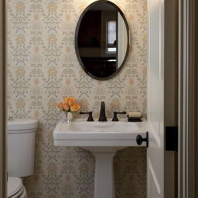 Powder Room pedestal sink Design Ideas, Pictures, Remodel and Decor