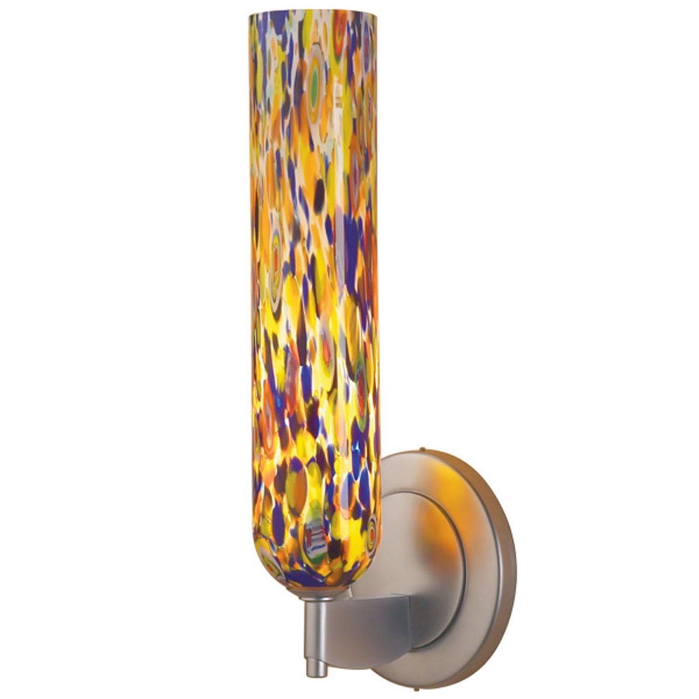 Bruck lighting chianti matte chrome and mosaic glass shade led wall