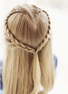 Definitely Going To Give This Hairstyle A Try For Valentine S Day Heart Hair Hair Styles Heart Braid