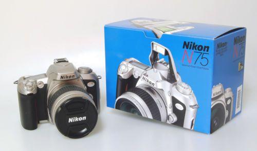 Nikon N75 35mm Slr Autofocus Camera Kit With Nikon 28 80mm F 3 3 5 6 G Af Lens Autofocus Camera Nikon Autofocus