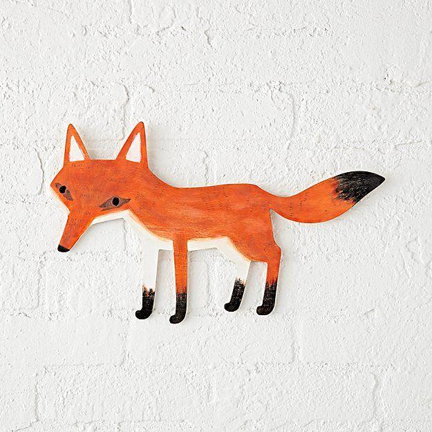 Wooden Fox Wall Decor