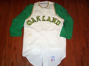 huge selection of 24df1 c78a7 GAME USED 1968 OAKLAND A's VINTAGE FLANNEL BASEBALL JERSEY ...