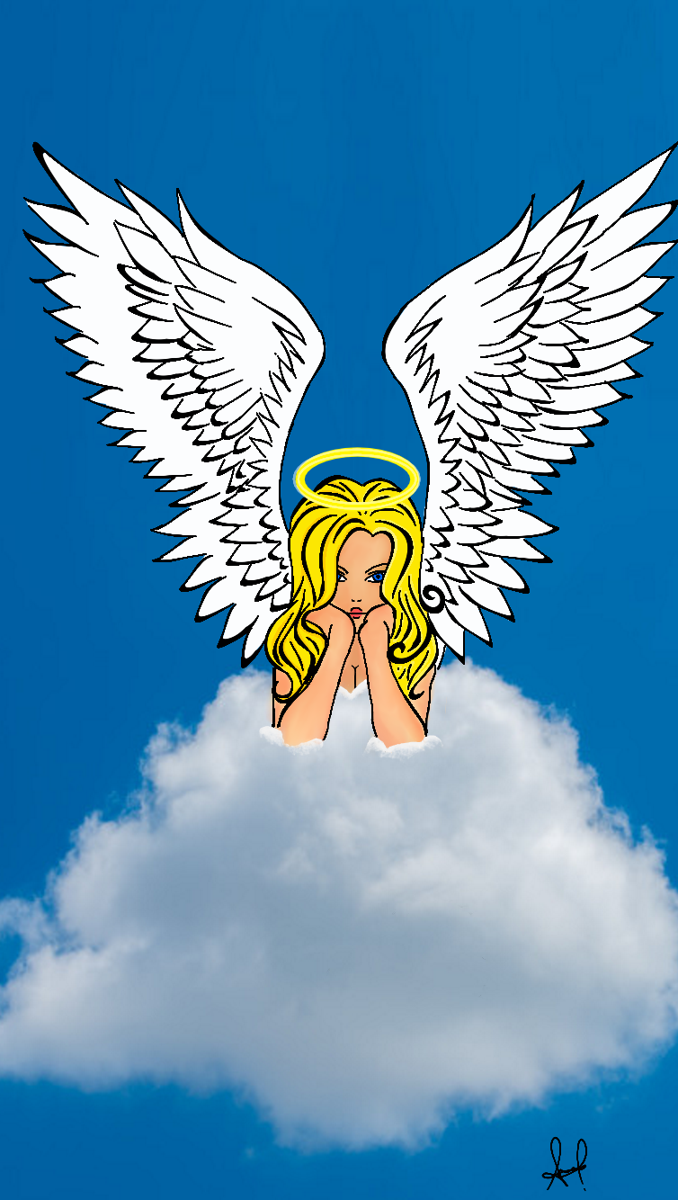 Angelical Y Hermosa Dibujos Nubes