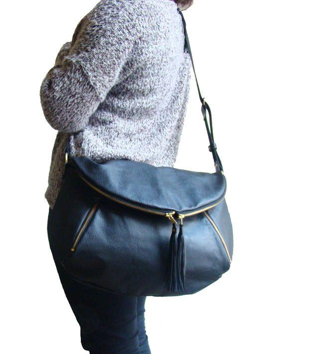 Weekender - Cobalt Blue Suede Weekender/ Overnight Travel bag - ein Designerstück von frankandgertrude bei DaWanda