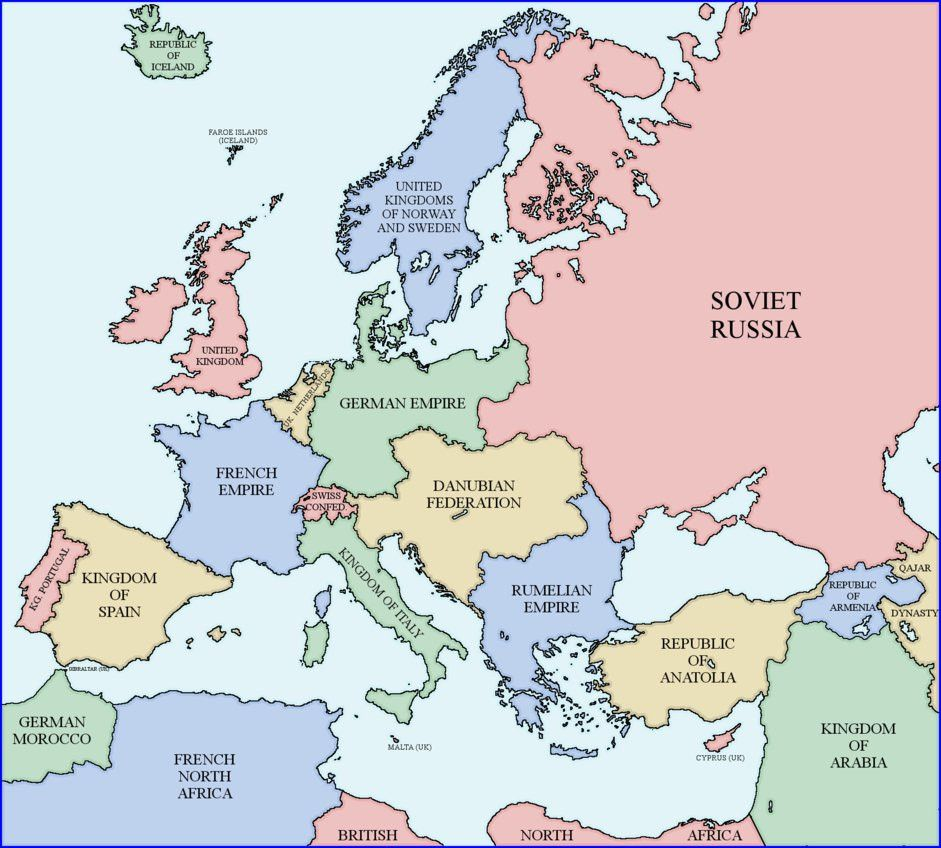 Map Of Europe 1938 Rumelia Universe By Xpnck On Deviantart