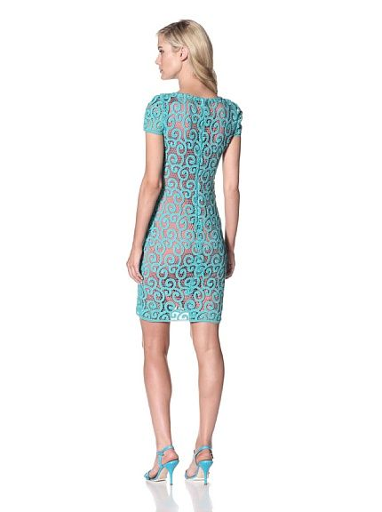 Elie Tahari Women's Lolly Dress at MYHABIT. Lace Dress, Contrast Slip Included.