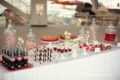 Retro dessert table