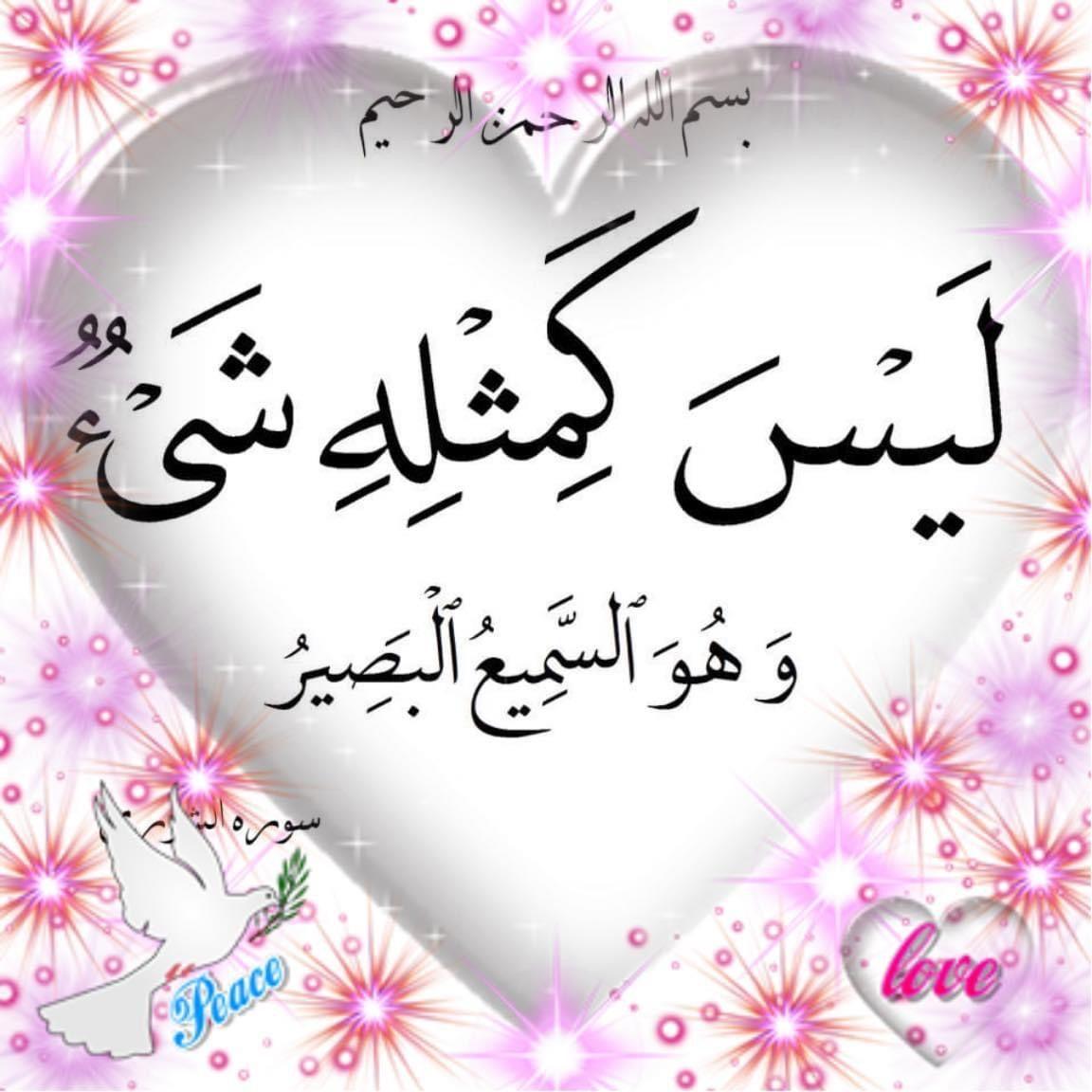 قال الله تعالى ل ي س ك م ث ل ه ش ي ء و ه و الس م يع ال ب ص ير التفسير Islam