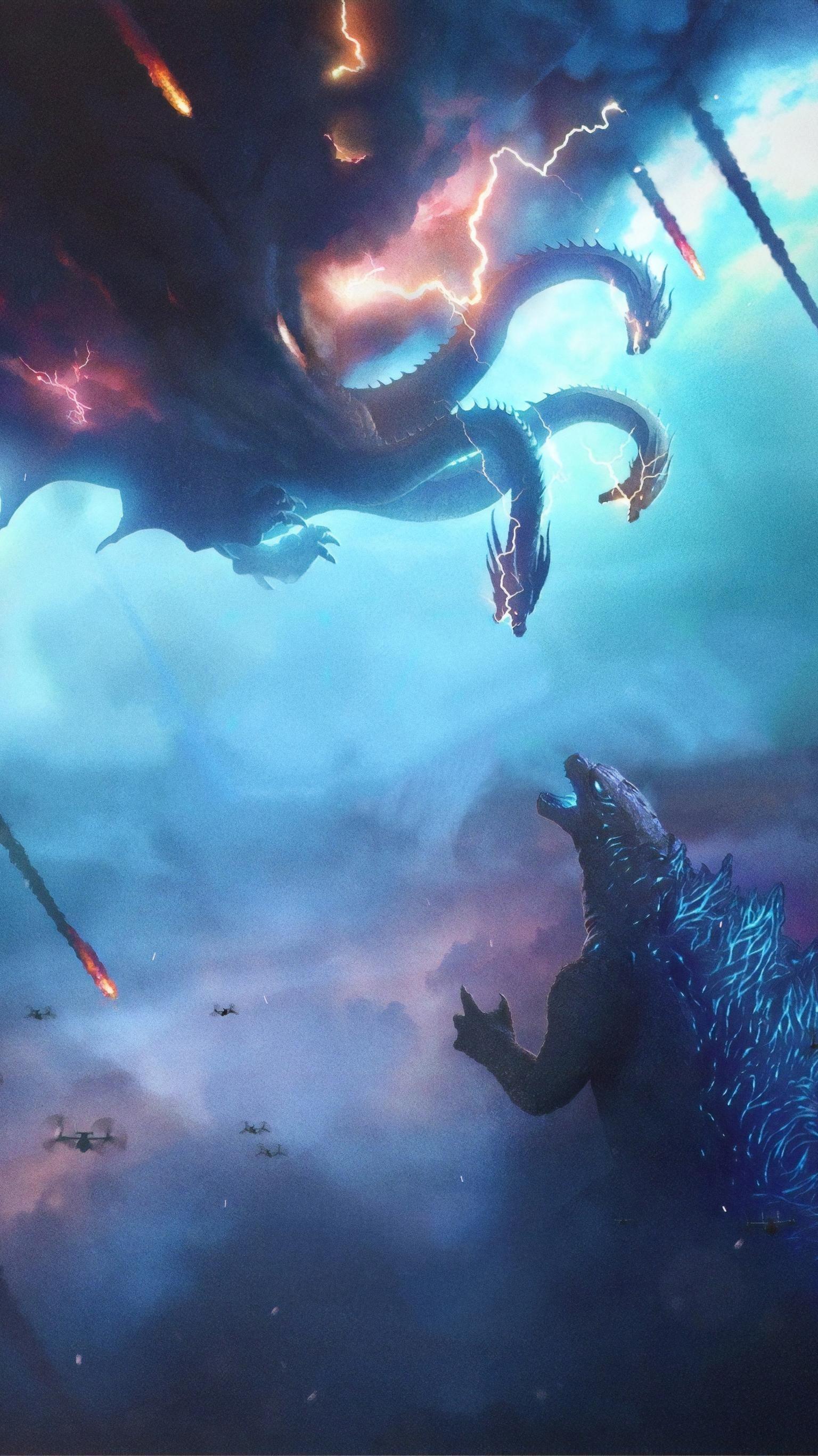 Godzilla King Of The Monsters 2019 Phone Wallpaper Moviemania Godzilla Wallpaper Godzilla Funny Godzilla Comics