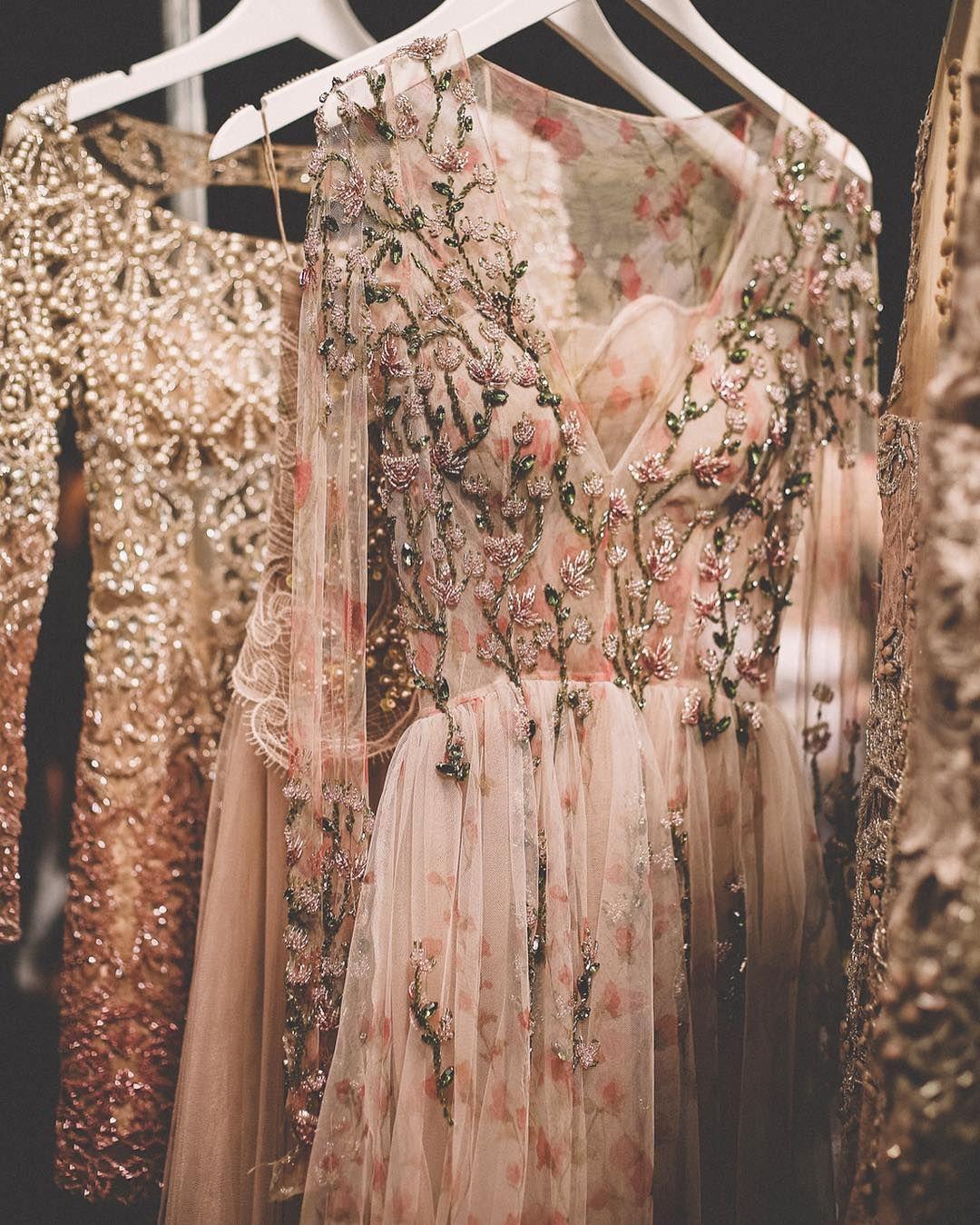 Embroidered Patricia Bonaldi gowns