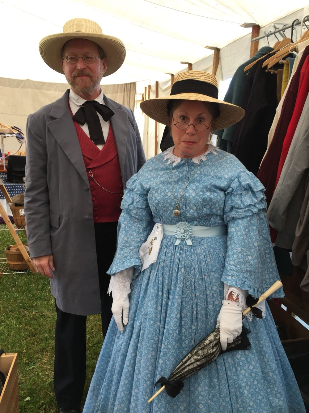 1860's Middle class Day dress  period correct example