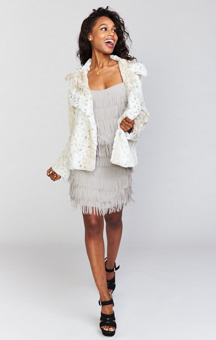 Fischer Fur Jacket ~ White Jag Faux Fur  | Show Me Your Mumu
