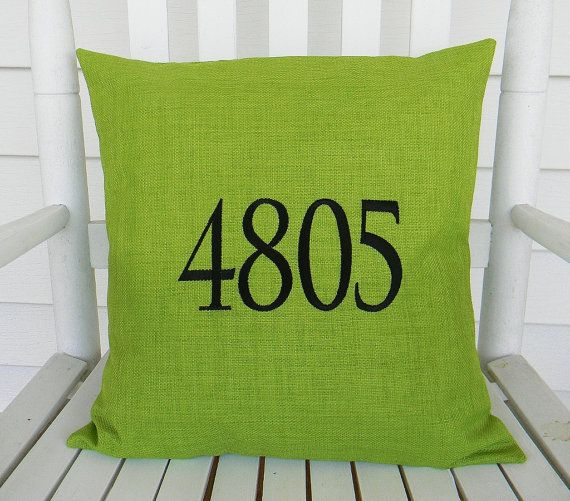 Monogrammed Outdoor Pillow For Front Porch! So Cute!