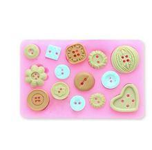 Alimentos el uso del arte del azúcar surtido de la novedad botones del caramelo de la magdalena silicón Mold azúcar Cake Craft decoración(China (Mainland))