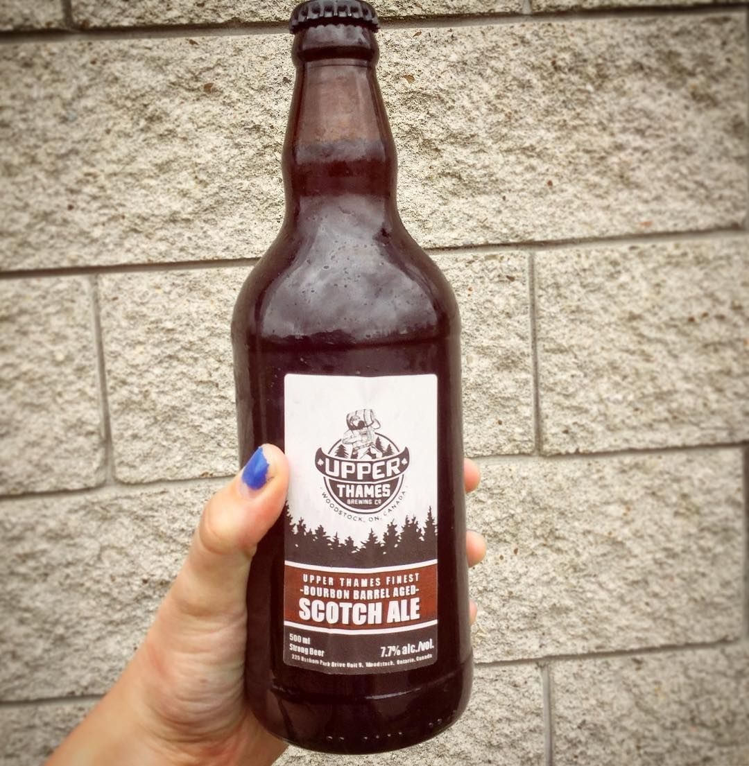 We're loving this #bourbon barrel aged #scotch ale from @upperthamesbrewing released today for #BigCheeseDays! Stop into the brewery for live music, beer and cheese pairings and a Boston round trip with pairing card! #bigcheesedays #trythetrail