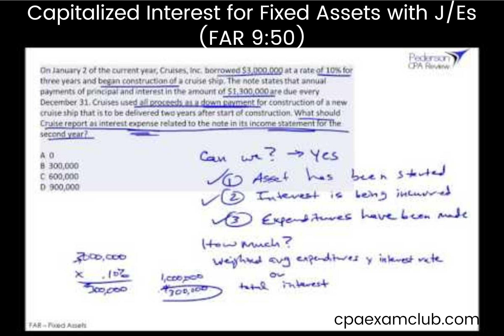 Capitalized Interest For Fixed Assets With J Es Far 9 50