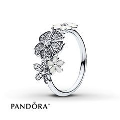 PANDORA Ring Shimmering Bouquet Sterling Silver