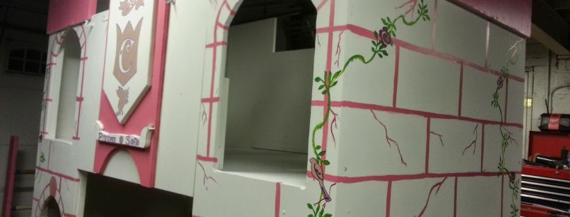 Messy Momming DIY Customized Princess Castle Bed  DIY Budget friendly princess castle