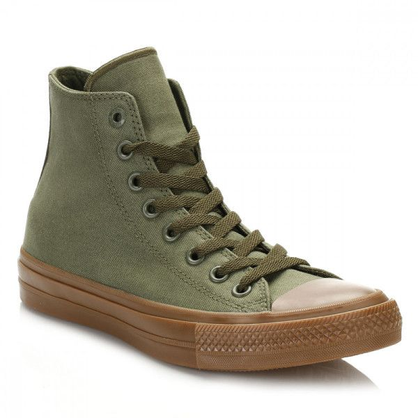 45420f53908 All Star Chuck Taylor II Herbal Gum Hi Top Trainers ( 77) ❤ liked on  Polyvore featuring shoes