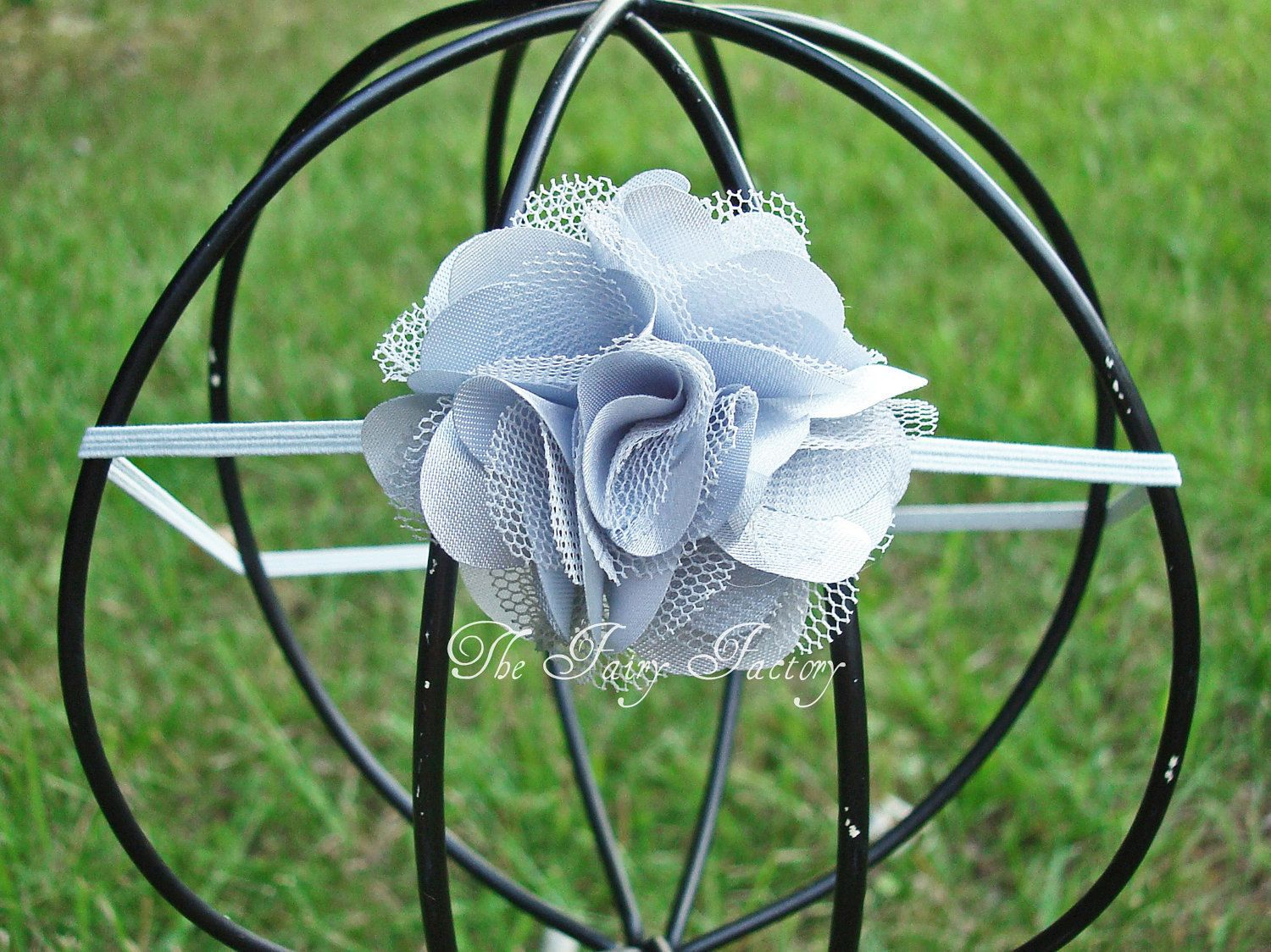 how to make tulle headband puff