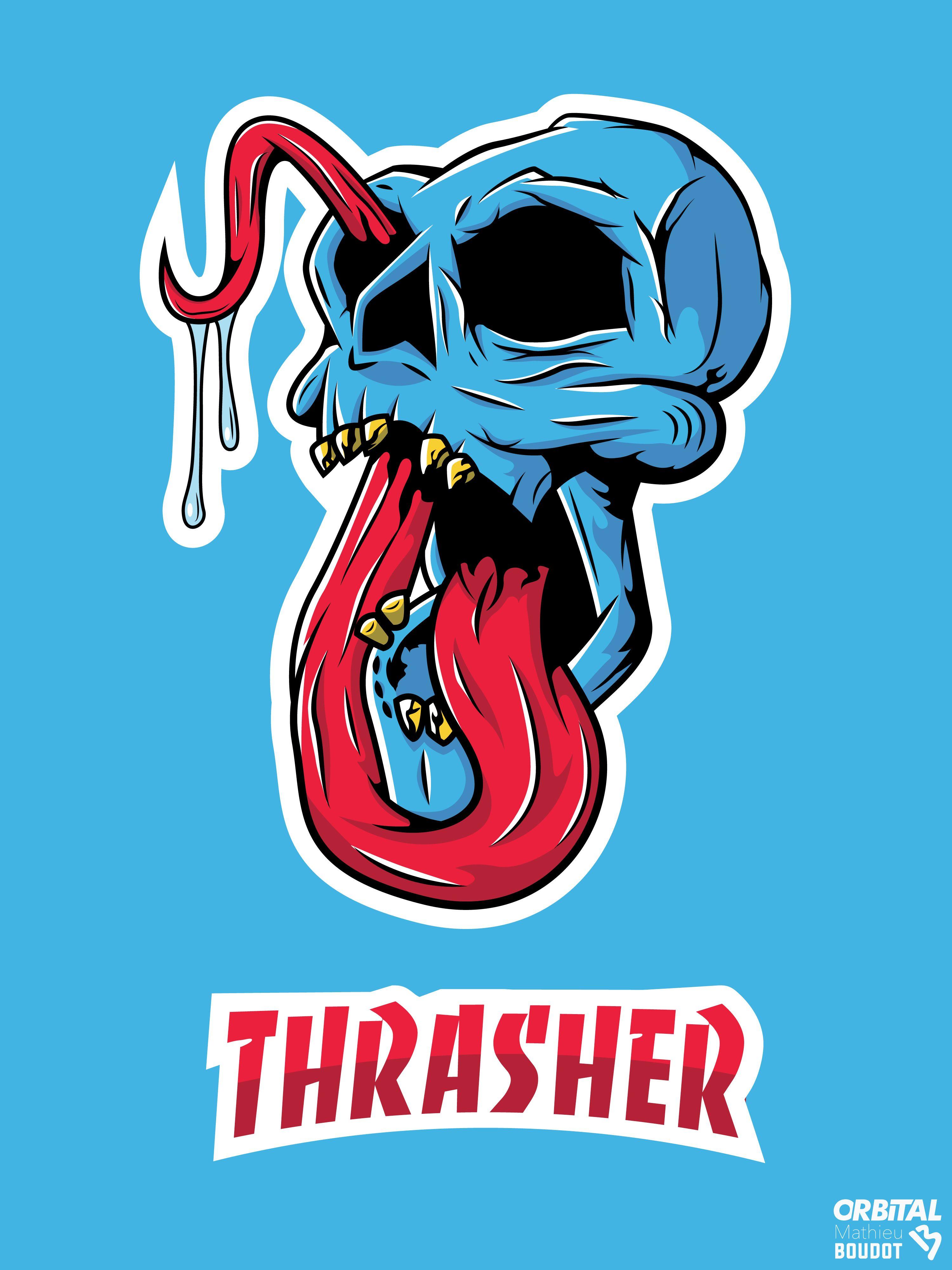 Consultez mon projet Behance « Skull thrasher » https