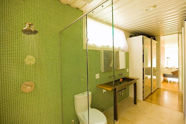 Container heads rejoice a new container baby the cordell - Shipping container public bathroom ...