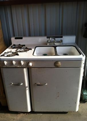 1950 Ge Stove Sink Oven Fridge Combo Ge Stove Stove Sink