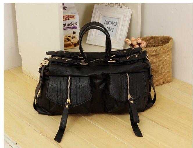 $15.46 Retro Stylish Double Pocket Shoulder Bag