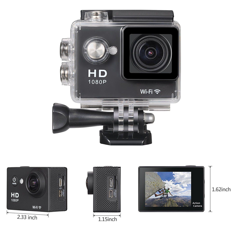 Onlyee Full Hd 1080p Wifi 20 Inch 170 Waterproof Diving Action Camera Sports Underwater Helmet