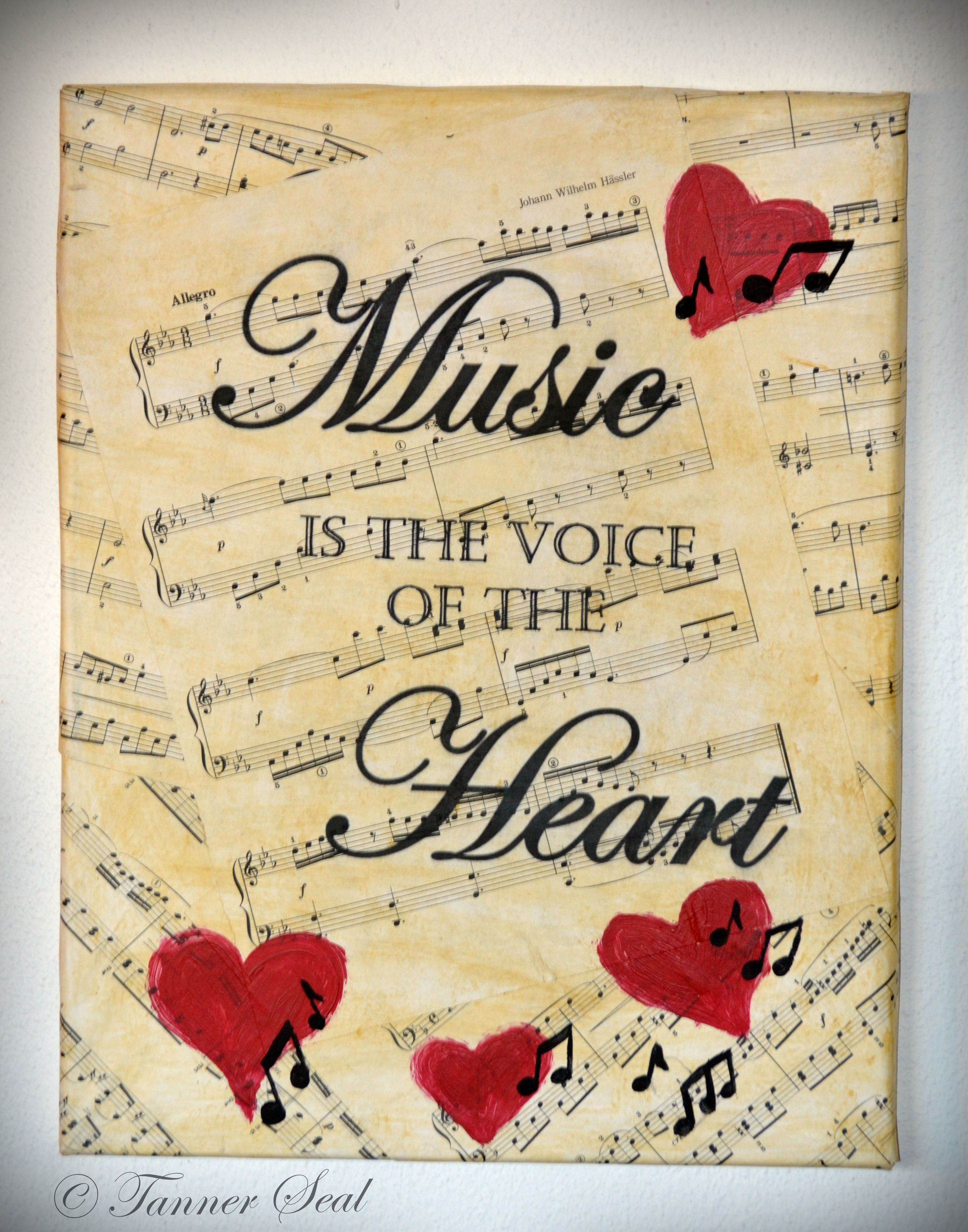 Music is the voice of the Heart ~ Acrylic Canvas Painting 11X14 ...