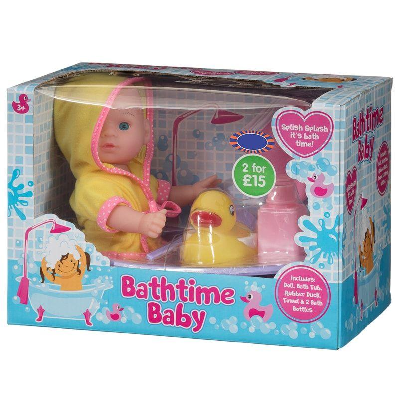 Dollhouse Miniature Pink Baby Bath Towel Wash Cloth 2 Bath Bottles Rubber Ducky
