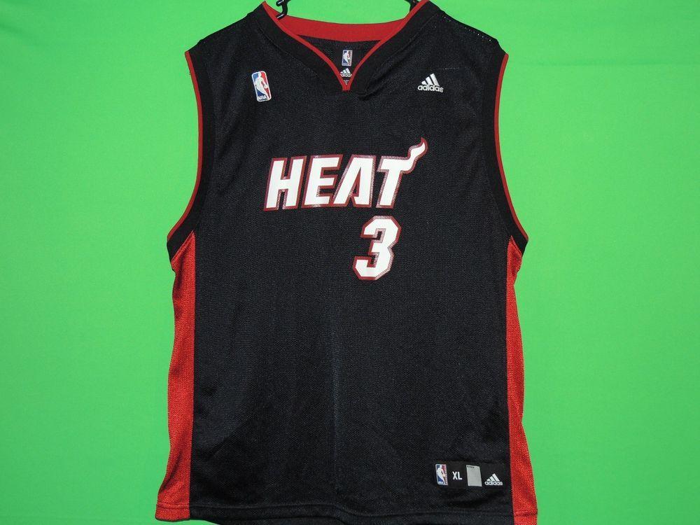 #DwyaneWade #MiamiHeat #NBA #Boys #Youth #XL #ExtraLarge #Jersey #Basketball #FREEShipping