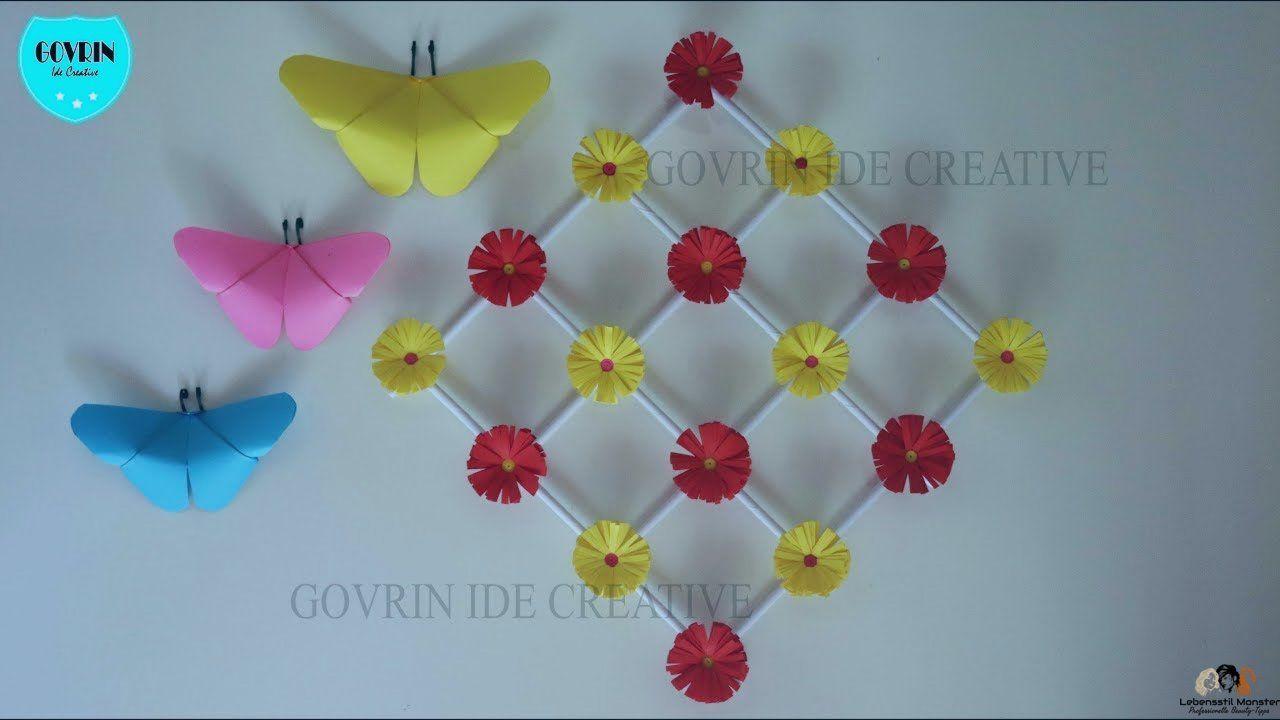Keren Cara Membuat Hiasan Dinding Bunga Dari Kertas Origami